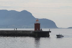 Lighthouse in Alesund, Norway Royalty Free Stock Image