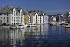 Alesund, Noorwegen Stock Afbeeldingen