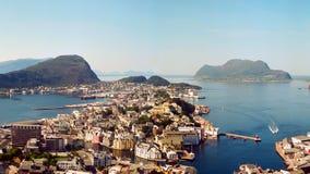 Alesund Norge Fotografering för Bildbyråer