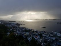 Alesund Norvegia immagine stock libera da diritti