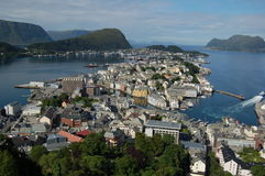 alesund norway royaltyfria foton
