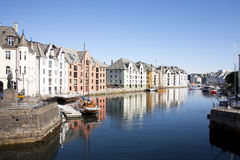 Alesund Norway City Center Royalty Free Stock Photography