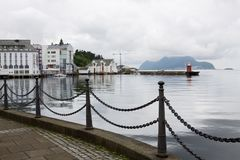 Alesund cityscape with sea. Alesund is a town and municipality in Norway royalty free stock photo