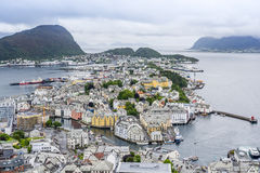 Alesund, Norway, view from Aksla mountain Royalty Free Stock Image