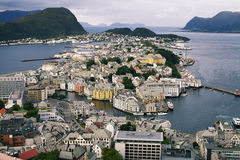 Alesund , Norway. View from Aksla viewpoint at Alesund , Norway stock images