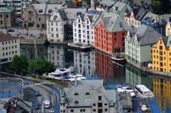 Alesund in Norwegen lizenzfreies stockbild