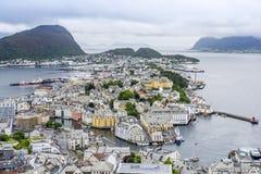 Alesund, Norwegen, Ansicht von Aksla-Berg Lizenzfreies Stockbild