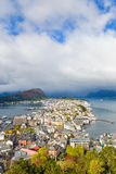 Alesund on the Norwegian coast Royalty Free Stock Photography