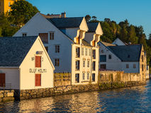 Alesund Oluf Holm Warehouse Stock Images