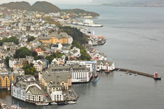 Alesund outer harbor in Norway Royalty Free Stock Photos