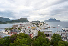 Alesund panorama Stock Photography