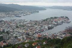 Alesund Panorama lizenzfreie stockbilder
