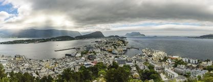 Alesund Panorama View royalty free stock photos