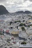 Alesund panorama wiew from Aksla Stock Image