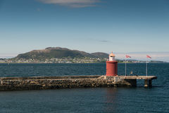 Alesund. Pier in Alesund City in Norway Royalty Free Stock Images