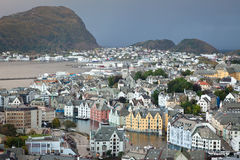 Alesund the prettiest city in Norway Stock Image
