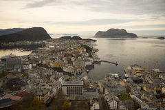 Alesund, principal shipping town of the Sunnmøre distric Royalty Free Stock Photography