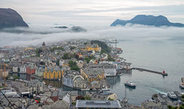 Alesund-Stadt, Norwegen Lizenzfreies Stockfoto