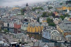 Alesund-Stadt, Norwegen Stockfoto