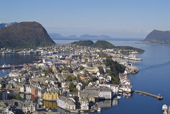 Alesund town Stock Photography