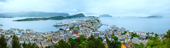 Alesund town (Norway) panorama. Stock Photography