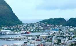 Alesund town (Norway) Royalty Free Stock Photography