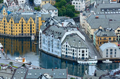 Alesund town (Norway) Stock Image