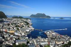 Alesundu挪威 免版税图库摄影
