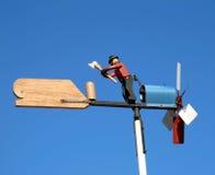 Aleta da silhueta que indica o sentido de vento Imagens de Stock
