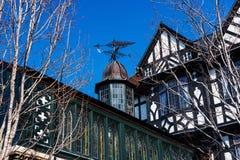 Aleta de tempo no telhado na construção clássica de Europa Imagem de Stock
