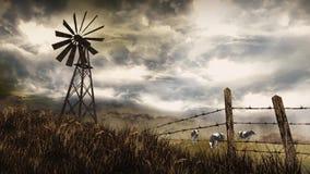 Aleta de tempo para baixo na exploração agrícola 4k video estoque