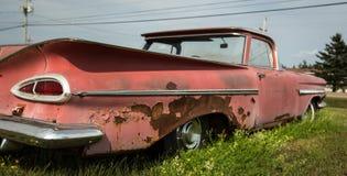 Aleta de un coche del abandono Imagen de archivo libre de regalías