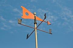 Aleta de vento alaranjada Imagem de Stock Royalty Free