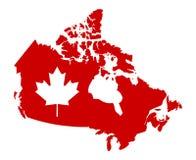 Aleta del mapa del mundo de Canadá Fotos de archivo libres de regalías