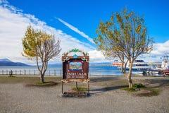 Aleta Del Mundo de Ushuaia imagen de archivo libre de regalías