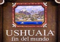 Aleta Del Mundo de Ushuaia fotografía de archivo libre de regalías