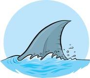 Aleta dorsal do tubarão Fotografia de Stock Royalty Free