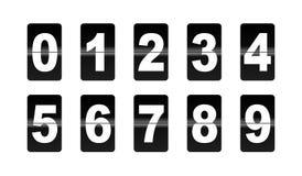 A aleta numera para baixo Fotografia de Stock