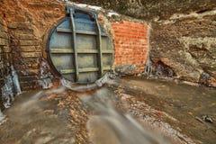 Aleta del agua de Metall Fotos de archivo libres de regalías