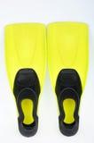 Aletas amarelas para o mergulho Imagens de Stock Royalty Free