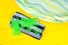 Aletas de la natación Imágenes de archivo libres de regalías