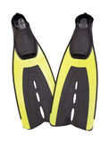 Aletas do mergulhador com trajeto Fotos de Stock Royalty Free
