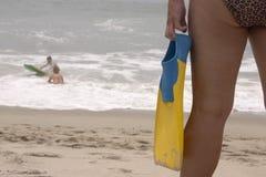 Aletas a nadar con. imágenes de archivo libres de regalías