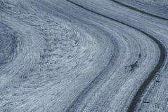 Aletch the longest glacier in Alps Stock Photos