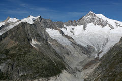 Aletchhorn. The Aletschhorn (4,192 m (13,753 ft)) is a mountain in the Bernese Alps in Switzerland stock photography