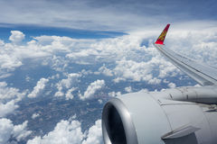 Aletillas del logotipo de Hainan Airlines Fotografía de archivo libre de regalías