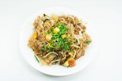 A aletria acolchoa tailandeses, pratos do nacional do ` s de Tailândia imagem de stock royalty free