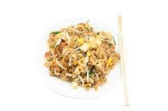 A aletria acolchoa tailandeses, pratos do nacional do ` s de Tailândia fotografia de stock