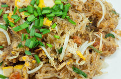 A aletria acolchoa tailandeses, pratos do nacional do ` s de Tailândia imagens de stock royalty free