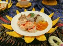 Aletria picante do camarão Fotografia de Stock